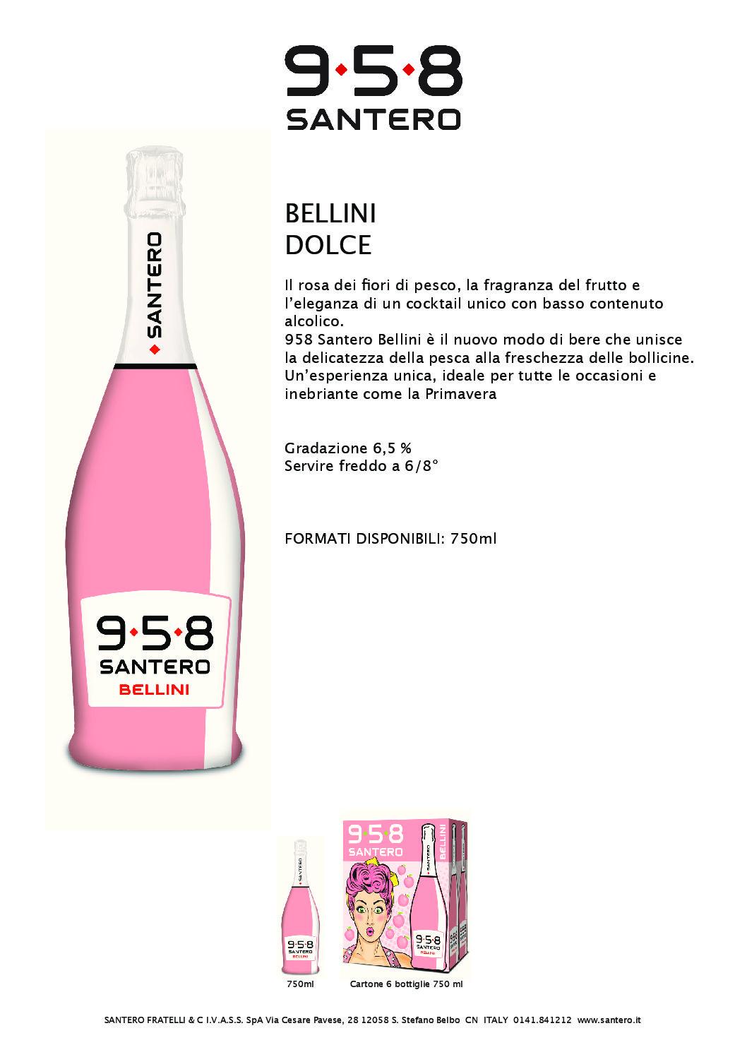 SPUMANTE 958 SANTERO BELLINI CL.70