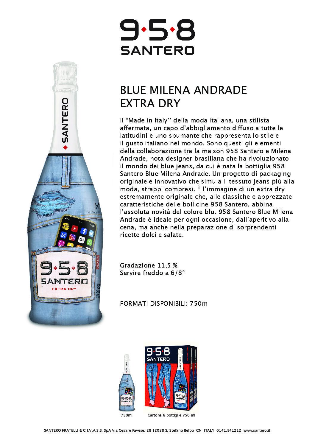 SPUMANTE 958 SANTERO JEANS CL.75